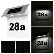 Stainless Steel Solar Doorplate Number Light Wall House Door Number 4 LED Lamp