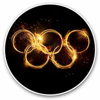 2 x Vinyl Stickers 7.5cm - Olympic Rings Athlete Exercise Cool Gift #14526