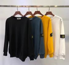 Uomo Round Neck Sweater Sleeve Pullover Felpa Logo Sweatshirt Tops
