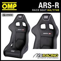 "HA/774E OMP ""ARS-R"" RACING SEAT AIRTEX GEL COATED FIBREGLASS BUCKET SEAT BLACK"