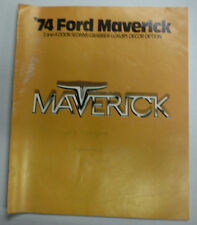 Maverick Magazine '74 Ford 2 And 4 Door Sedans 050715R2