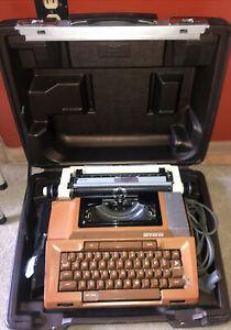 Vintage BROWN Electric Typewriter Smith-Corona Coronamatic 2100 W/ Case WORKS