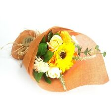 Standing Soap Flower Bouquet - ORANGE - Enjoy to Look At / ENJOY to Bath With