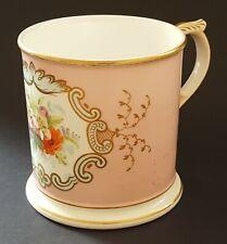 Pink glaze vintage Victorian antique floral design large mug tankard