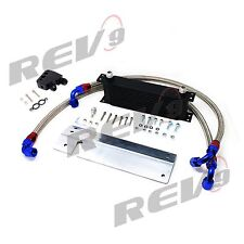 Rev9 Oil Cooler Kit 12 Rows Bolt-On For Corvette 97-04 C5 C6 LS1 LS6 CTS-V