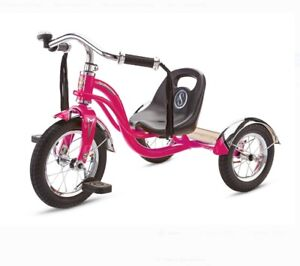 Schwinn Roadster Retro-Style Tricycle, 12-inch front wheel, ages 2 - 4, hot pink