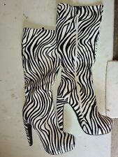 Womens Zebra Boots Size 5