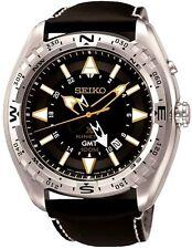 SEIKO SUN053P1 Prospex Kinetic GMT LAND Leather Strap 2 Year Guar RRP £299.00