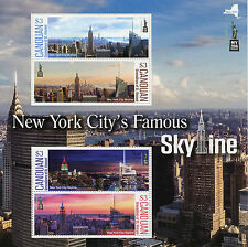 Canouan Gren St Vincent 2016 estampillada sin montar o nunca montada ciudad de Nueva York famoso Skyline NY2016 4v m/s