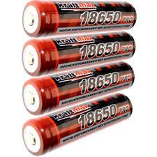 4x Kraftmax 18650 Pro Akku mit Schutzschaltung speziell für Taschenlampen 9,62Wh