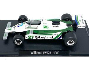 1:43 Scale Williams FW07B F1 Diecast Model - Alan Jones 1980 Model F1 Race Car