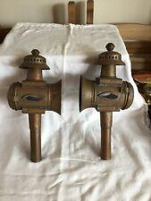 Une paire de Vintage Brass Carriage Lamps
