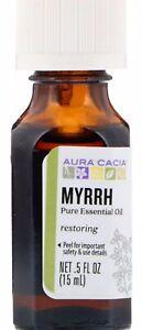 Aura Cacia Pure Essential Oil Myrrh - 0.5  fl oz NATURAL ORGANIC CRUELTY FREE