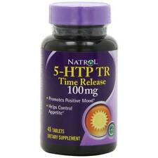 Natrol 5-HTP Time Release Tablets, 100mg, 45 Count New
