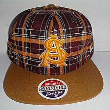 Arizona State Sun Devils Authentic Snapback  PLAID Cap NWT Hat