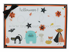HANDMADE AUTUMN HALLOWEEN CARD MONSTERS & GHOULS CAT BAT PUMPKINS DRACULA NEW