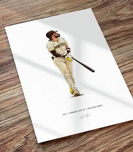 Fernando Tatis Jr Homerun San Diego Padres Baseball Illustrated Print Poster Art