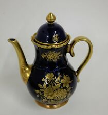 Kaffeekanne Bareuther Waldsassen Germany echt cobalt / gold