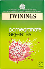 TWININGS POMEGRANATE GREEN TEA 20 TEA BAGS