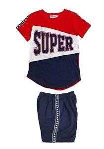Kids Boys Summer Pyjamas Short Sleeve T-shirt Tops Tee Shorts Outfits Set 2pcs