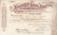 More details for kathleen gold mine & letter of liquidation