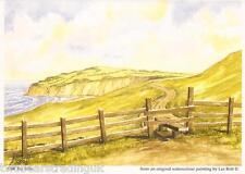 Postcard: Les Bott - Cliff Top Stile (Pilkington Family Trust)