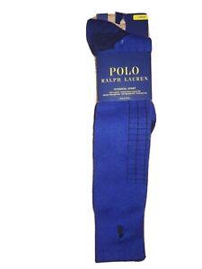 Polo Ralph Lauren Men's Technical Sport Support Crew Athletic Socks, Blue10-13