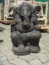 Ganesha 60 cm Ganesh XXL Buddha Lavastein Bali Steinfigur 60 KG massiv Statue