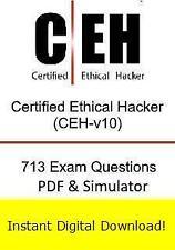 312-50v10 EC-Council Certified Ethical Hacker v10 CEH v10 (713 Exam+PDF->Email)
