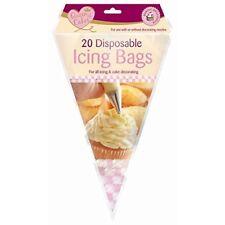 20 Disposable Icing Piping Pastry Bags Cake Tools Sugarcraft Cupcake Decorating