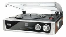 Dual MTR10 RETRO Twin Speed Turntable With B/in Speakers FM Radio Line Out Jack