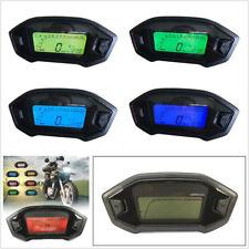 12V 7 Color LED Motorcycle LCD Digital Speedometer Odometer Tachometer KMH Gauge