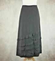 Per Una M&S Grey Skirt Size UK 12 R Smart Work Office Marks and Spencer