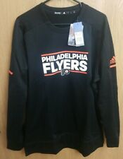 Adidas Mens D77061 NHL Philadelphia Flyers Crew Sweatshirt - Black Size XL