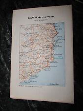 Vietnam War_Us Army South Vietnam Map - Dalat _1971 Svn