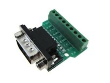 DB9 Male Signals Breakout Board - Screw terminal connector Serial Port