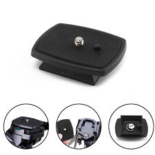 Black Tripod Quick Release Mount Head Camera DSLR SLR Plate Screw Adapter