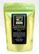 Oakridge BBQ 16oz Dominator Sweet Rib Rub Resealable Packet Barbecue Meat Spice
