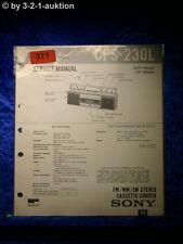 Sony Service Manual CFS 230L Cassette Recorder (#0371)