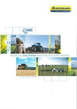 NEW HOLLAND INGENIOUS SOLUTIONS FOR MORE EFFICIENT FARMING BROCHURE - PV4