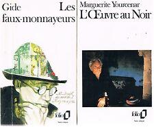 YOURCENAR L'Oeuvre au noir + GIDE Les faux-monnayeurs + PARIS POSTER GUIDE