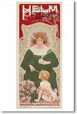 Dutch Helm Cocoa Advertisement - 1899 - NEW European Art Print POSTER