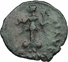 THEODOSIUS II 425AD  Ancient Roman Coin Nike w two wreath of success i32841