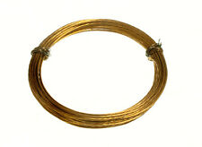 Picture Mirror Frame Hanging Wire 12Kg Breakweight 3.5M Brass  1 Roll