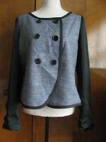 Gap Women's Gray/Black Lined Business Blazer Size Large NWT