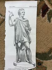 m4-6 ephemera 1849 picture marble statue macbeth by lough carlton house ridley