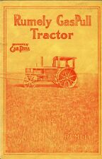 Rumely Gas Pull Tractor catlogue reprint