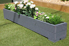 GREAT WOODEN GARDEN PLANTER TROUGH 150cm LENGTH DECKING PAINTED CUPRINOL GREY