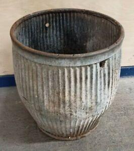 Original ~Genuine ~Wash Tub ~Peggy Tub ~Vintage ~Galvanised ~Garden Planter