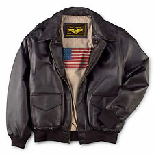 Leather++ Men's Air Force A-2 Leather Flight Bomber Jacket - Free delivery